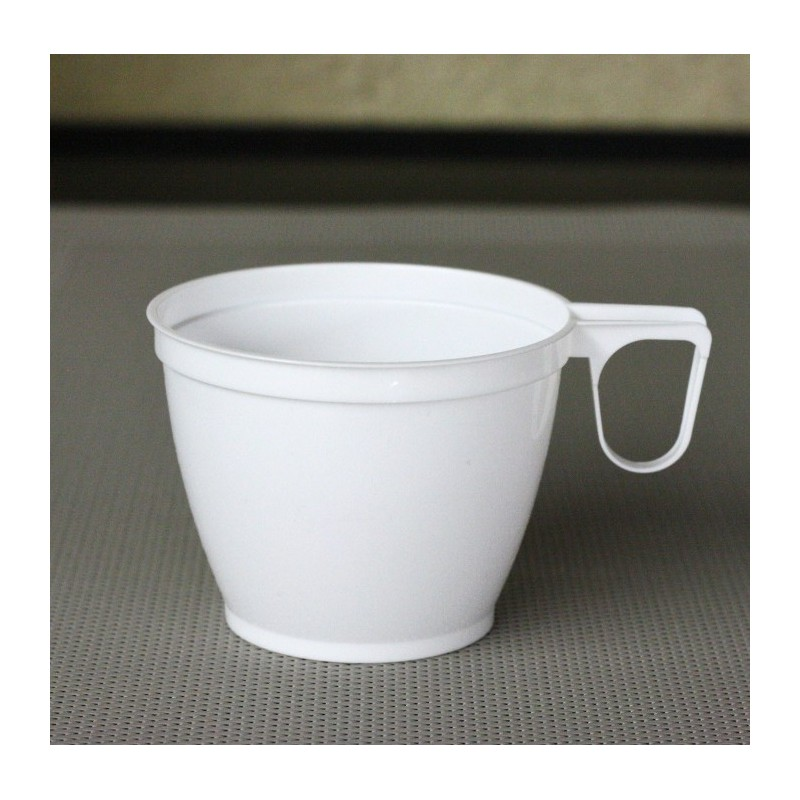 tasses caf plastique blanche 18 cl vaisselle jetable discount. Black Bedroom Furniture Sets. Home Design Ideas