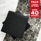 Pack chemin décor noir + 40 serviettes soft noires
