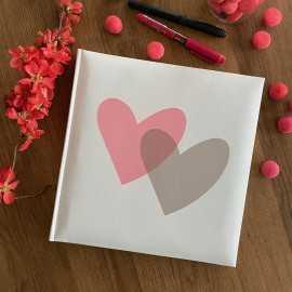 Livre d'or spécial fêtes Décor coeur rose
