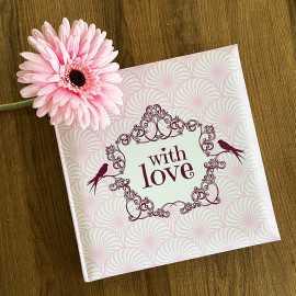 Livre d'or spécial fêtes Shabby rose With love
