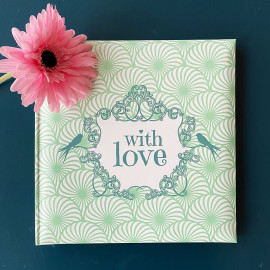 Livre d'or spécial fêtes Shabby vert With love