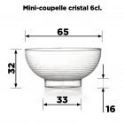 10 Mini-coupelles cristal 6cl Recyclables - Réutilisables