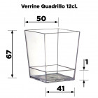 Verrine Quadrillo 12cl Recyclable - réutilisable Par 12