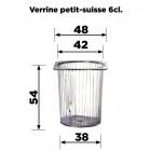 Verrine Petit-suisse 6cl Recyclable - réutilisable Par 20