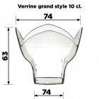 Verrine grand style 10 cl. Recyclable - réutilisable. Par 25