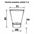 Verrine maestro cristal 16cl Reyclable - réutilisable Par 10
