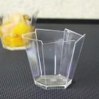 Verrine plastique Hexagonale transparent