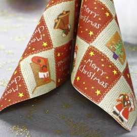20 Serviettes Merry Christmas 40cm x 40cm