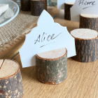 Set de 9 Marque-places rondin de bois 3,5 cm