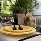 Assiette Bio jaune macaron 23 cm. Home compost. Fibres végétales Par 12