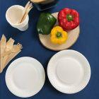 Assiettes biodégradables rondes 18 cm. Par 100