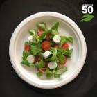 Assiette biodégradable ronde 23 cm. Par 50