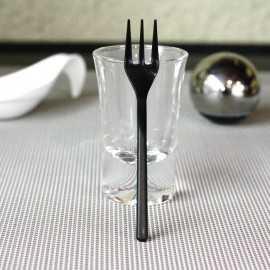 Mini-Fourchettes plastique noires