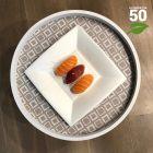 Assiette biodégradable design carrée plate 18 cm. Par 50
