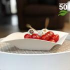 Assiette biodégradable design carrée creuse 18 cm. Par 50