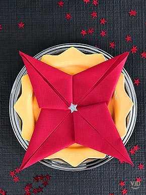 Pliage Serviette étoile De Fête Une Star Est Née