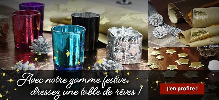 Avec notre gamme festive, dressez une table de rêves