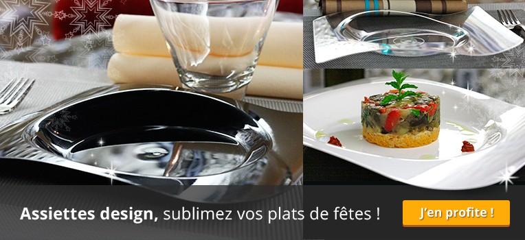 Assiettes design, à prix très festifs !