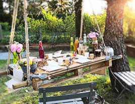 Table Brunch plein air Bio
