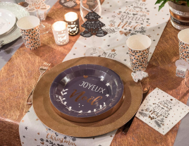 Une table de fêtes : Merry Christmas