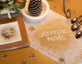 Une table de fête : Etincelle de Noël rose gold !