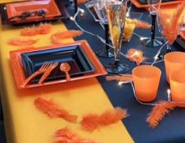 Table Halloween orangé