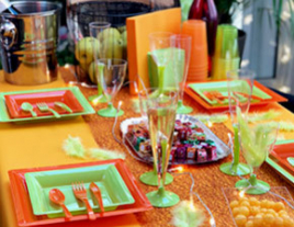 Table Orange-Vert Antilles